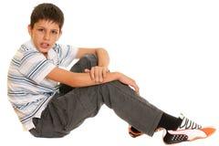 Twistzieke jongen Stock Foto