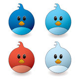 Twit bird. Cartoon style twit bird with red and blue colour variations Stock Image