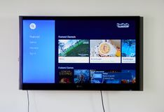 Twitch app and logo on LG TV Stock Image