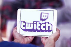 Twitch mobile logo Royalty Free Stock Image