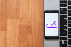 Twitch on smartphone screen Royalty Free Stock Image
