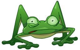 Twitchy the nervous frog. A vector cartoon of a nervous amphibian royalty free illustration