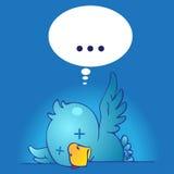 Twitless - twitter down. Twitter Down - dead bird - cannot Twit Stock Image