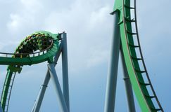 Twitsting Roller Coaster Ride Stock Photo