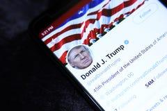 Twitter Дональд Трамп стоковые изображения rf