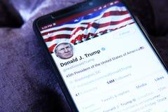Twitter Дональд Трамп стоковые изображения