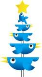 twitter рождества птиц Стоковые Фото