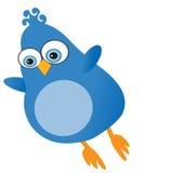 twitter сини птицы Стоковое Изображение RF