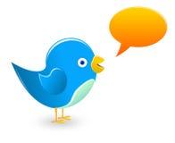 twitter сини птицы Стоковые Изображения RF