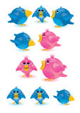 Twitter. The blue collor twitter and follow me text Royalty Free Stock Photos