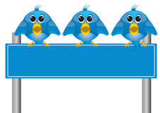 Twitter. The blue collor twitter and follow me text Royalty Free Stock Images