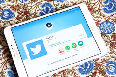 Twitter android mobile app Royalty Free Stock Photo