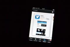 Twitter app Imagen de archivo