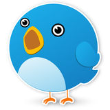 Twitter bird. On white background Stock Photography