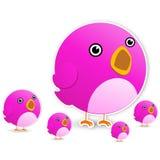 Twitter bird. On white background Royalty Free Stock Photo
