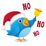 Twitter bird ho ho ho Stock Photo