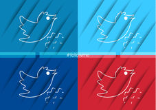 Twitter Bird icon vector web illustrations Stock Photos