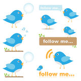 Twitter Bird Icons Royalty Free Stock Photo