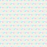 Bird valentine background. Two twitter birds in a heart shape background. Seamless pattern royalty free illustration