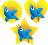 Twitter Birds. Illustration of Twitter Birds on white background Stock Image