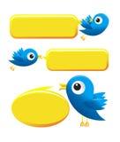 Twitter birds. Illustration of Twitter Birds on white background Royalty Free Stock Photo