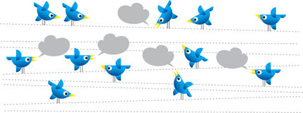Twitter birds Stock Photos