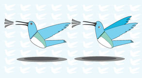 Twitter birds the new design. The work of the new design twitter bird which is the symbol of a famous social network application, Twitter. This cartoon adopt Royalty Free Stock Photography