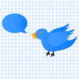 Twitter blue bird icon Stock Image