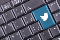 Twitter button Royalty Free Stock Photo