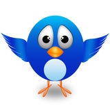 Twitter cute bird Stock Image