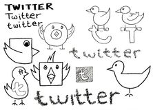 Twitter Doodle Royalty Free Stock Photo