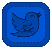 Twitter hacked by a virus. Illustration Royalty Free Stock Photos