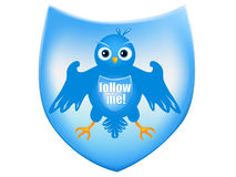 Twitter heraldic shield Stock Photos