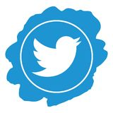 Twitter icon grunge style vector royalty free stock photo