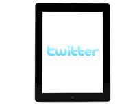 Twitter on iPad Royalty Free Stock Photos