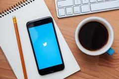 Twitter ist ein on-line-Social Networking und ein microblogging Service Stockfoto