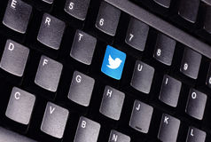 Twitter keyboard Royalty Free Stock Photography