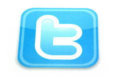 Twitter logo. Isolated on white royalty free stock image