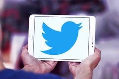 Twitter logo arkivfoton
