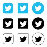 Twitter logo printed on paper. royalty free illustration