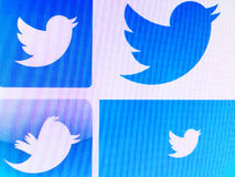 Twitter logos. On the day of the 2016 U.S. presidential election, Twitter was the largest source of breaking news, with 40 million election-related tweets sent stock photography