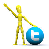 Twitter Man Royalty Free Stock Photography