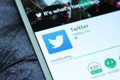 Twitter mobiele app Stock Foto's