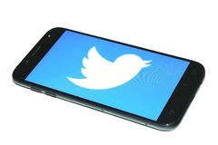 Twitter mobile phone app royalty free stock images