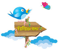 Twitter On A Sign Royalty Free Stock Photo