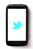 Twitter phone Stock Photography