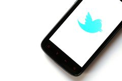 Twitter phone Royalty Free Stock Images