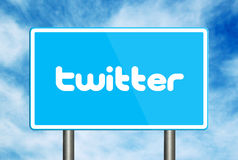 Twitter Sign Royalty Free Stock Photo