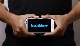 Twitter on smartphone Royalty Free Stock Photography
