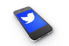 Twitter Smartphone Royalty Free Stock Photos